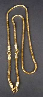 yellow gold dipped top quality snake chain to hold 3 Buddha Amulets