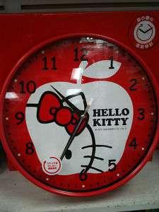 Hello Kitty Wall Clock Analog   RED APPLE