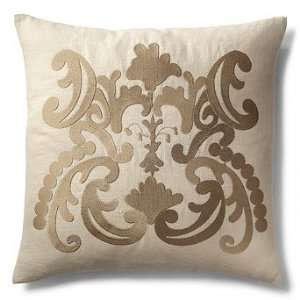 French Lace Throw Pillow with Crest   Dogwood   Frontgate