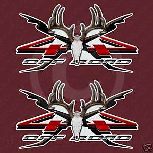 Deer Skull 4x4 Truck Hunting Decal Stickers