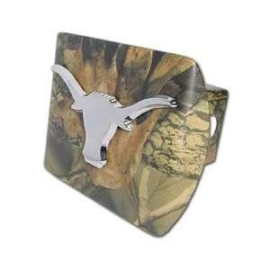 University of Texas Longhorns (Chrome Longhorn) on Camo Trailer Hitch