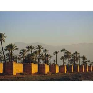 City Walls and Atlas Mountains in the Distance, Marrakesh