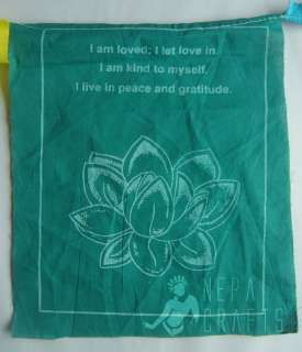 Detail large pictures of the Tibetn Healing Prayer Flag Roll