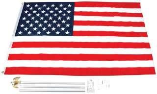 Flag US USA 3x5 American Pole Mount Kit Eagle Ornament United States