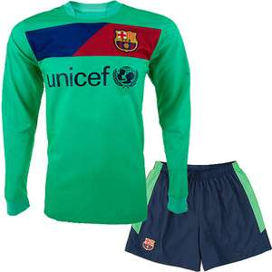 BARCELONA 2011 Aqua Soccer Uniform LONG SLEEVE