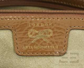 Anya Hindmarch Brown Patent & Tan Leather Shoulder Bag