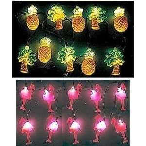 Flamingo Pineapple Palm Tree Party String lights
