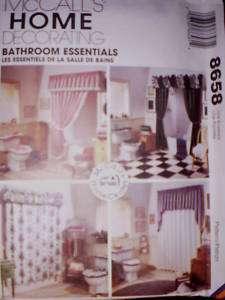 UNCUT McCalls Pattern Bathroom Essentials Toilet Covers