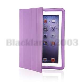 New iPad 2 Magnetic Smart Full Body Cover Leather Case Ultra Slim