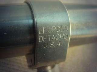 K4 60 B Scope w/ Leupold Detacho Quick Release Mounts $1 NR