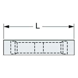 16 14 Wire 1.02 Len Nylon Insltd Seamless Butt Splice Conn