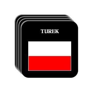 Poland   TUREK Set of 4 Mini Mousepad Coasters