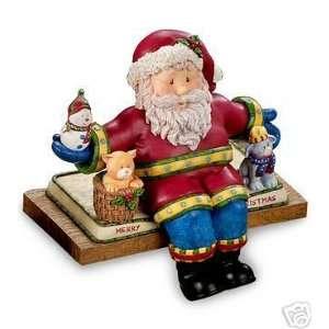 San Francisco Music Box Christmas Stocking Holder Santa