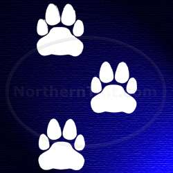 Paw prints vinyl wall art car truck decal sticker 017