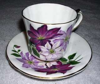 Society Fine Bone China, Cup & Saucer, Poinsettia