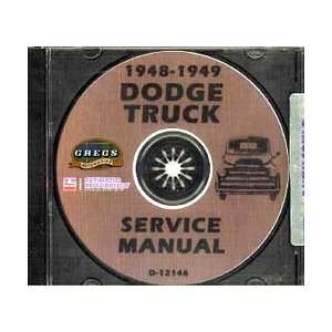 1948 1949 Dodge Truck Shop Service Repair Manual CD with