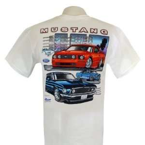 Ford Mustang Evolution White Medium T shirt Automotive