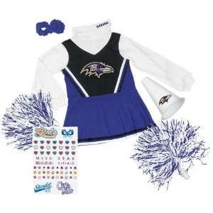 Baltimore Ravens Girls Toddler Cheerleader Gift Set