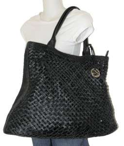 SEQUINED STYLE & CO WHITE EXTRA LARGE PVC HOBO BAG ST TROPEZ