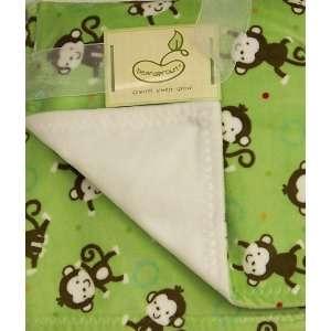 Super Soft Printed Blanket Green Monkey Baby