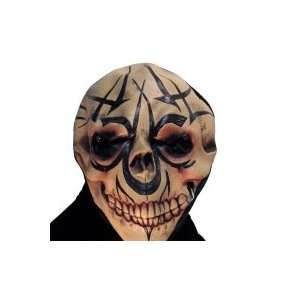 Hooded Tattoo Skull Mask w/LED Eyes [Toy]