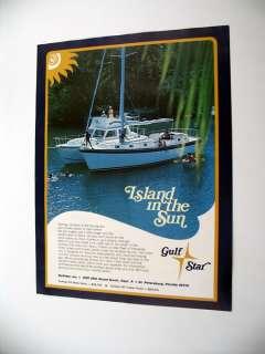 Gulfstar 43 ft Motorsailer & 36 ft Trawler Yacht Ad