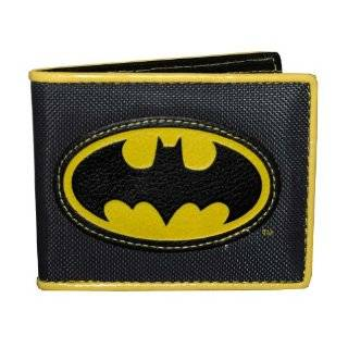 Batman Bat Symbol Applique Nylon Bifold Wallet by Batman