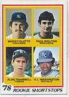 TOPPS 707 PAUL MOLITOR ALAN TRAMMELL BREWERS TIGERS ROOKIE EX EXMINT