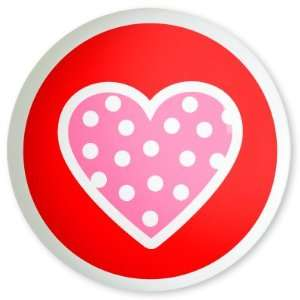 Best Quality Valentines Day Polka Dot Pink Heart Knob By
