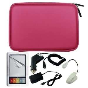 Premium Pink EVA Hard Cover Bag + Clear Screen Protector + Ebook Light