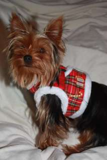 Puppia Dog Harness   Santa Step In Vest   Red or Plaid