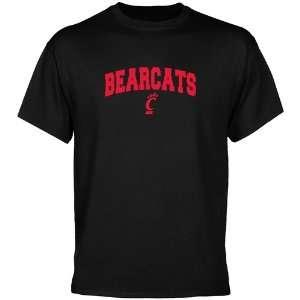Cincinnati Bearcats Black Mascot Arch T shirt Sports