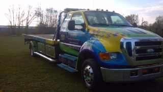 Tow Truck Medium Duty 2007 Ford F650 RollBack Flatbed Tow Truck Medium