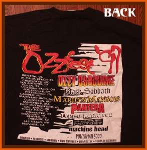 Ozzy Osbourne Ozzfest 1997 Rock Concert Tour T Shirt XL