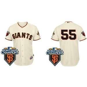 San Francisco Giants 55# Lincecum Cream 2011 MLB Authentic
