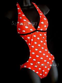 Hello Kitty SEXY RED Monokini NWT Size XS
