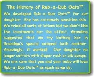 RUB A DUB OATS Natural Baby Oatmeal Bath Powder