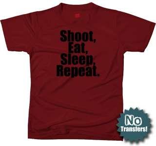 SHOOT EAT SLEEP ARMY MILITARY SNIPER RIFLE NEW T shirt