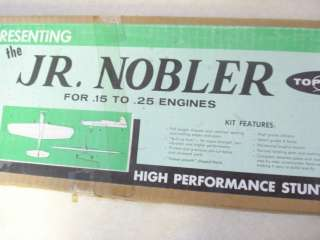 TOP FLITE JR. NOBLER CONTROL LINE MODEL AIRPLANE KIT **