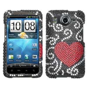 Curve Heart Beling Diamante Protector Cover Case for HTC