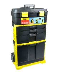 32 3 Part Rolling Stanley Style Tool box Case Wheels Toolbox FREE