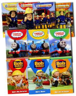 Fireman Sam + Bob The Builder + Thomas The Tank Engine 10 Books Box