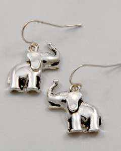 BAMA crimson TIDE silvertone ELEPHANT DANGLE Earrings