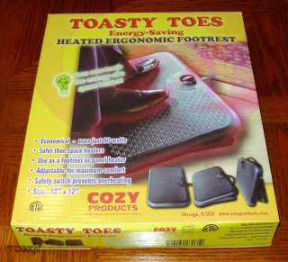 COZY TOASTY TOES ELECTRIC OFFICE SPACE HEATER FOOT WARMER REST SAFE