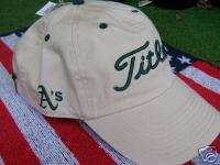 NEW Titleist Khaki Oakland As MLB Baseball Cap Hat