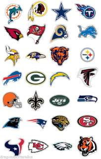 NFL JUMBO LOGO DECAL STICKER   ALL NFL TEAMS AVAILABLE