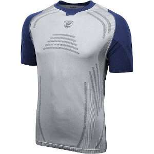 Shield Seamless Boost Short Sleeve Pearl/Blue Compression Top Medium
