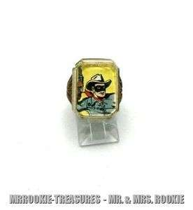 1950s King Features Lone Ranger Character plastic Ring HTF