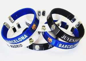 fc real madrid barcelona JUVENTUS Wristband Bracelet JH