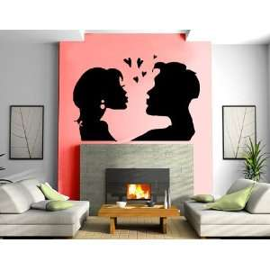 Kissing Couple Love Is in the Air Valentines Day Romantic